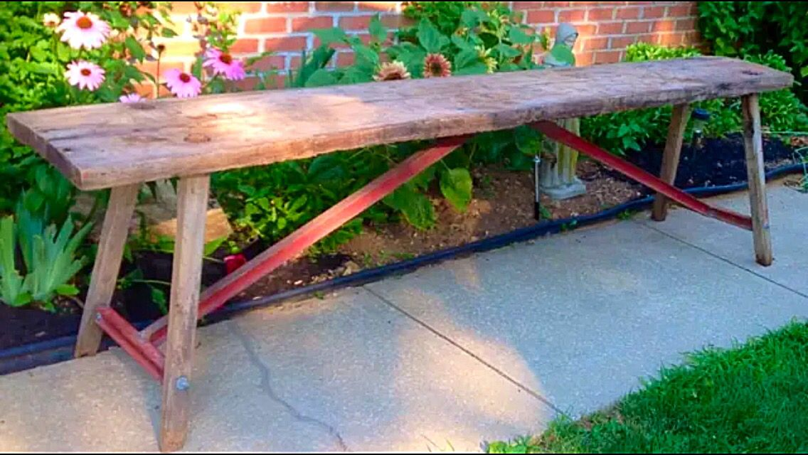 Good We Are Featuring This Primitive Old Butchering Table Man Bench Or Sofa Table  In A Great Restoration Hardware Industrial Meets Primitive Style.