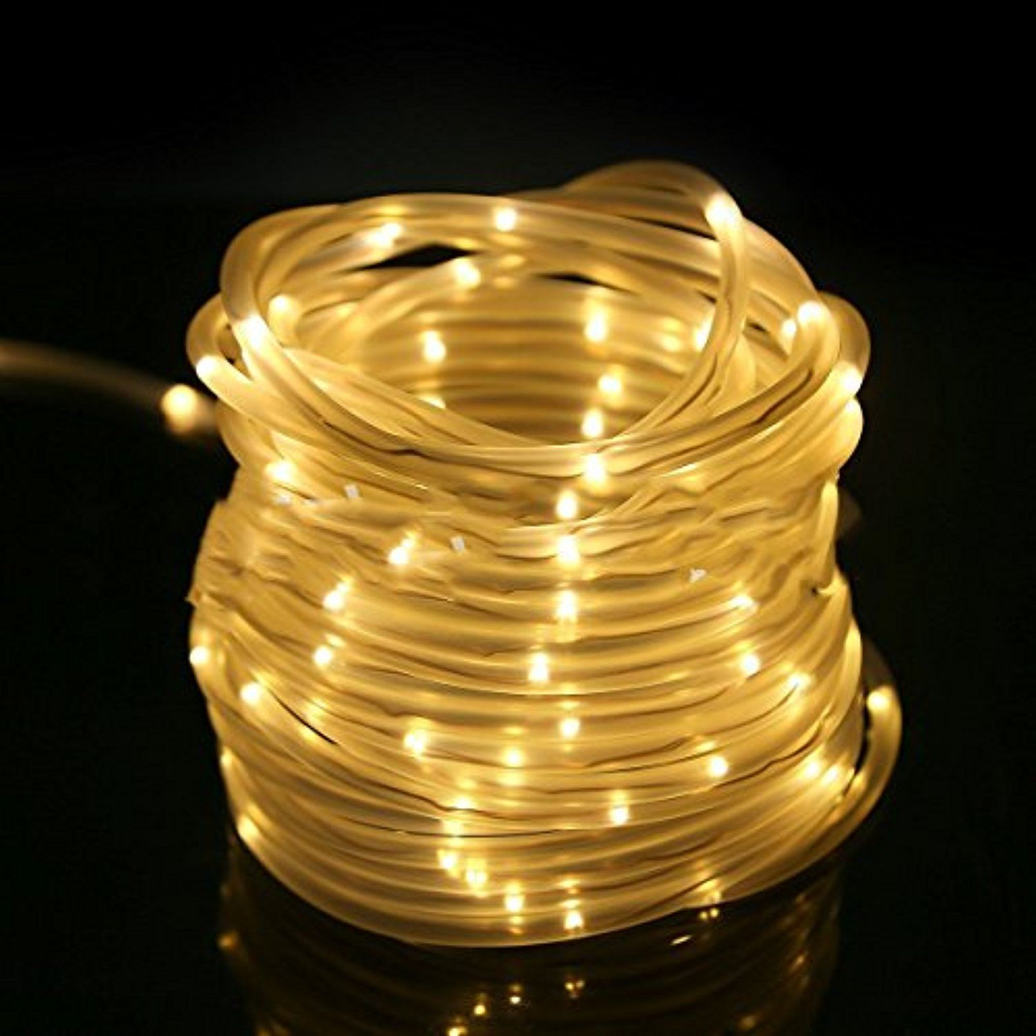 Win Led Rope Lights Christmas String 19ft 69 Outdoor Waterproof Aa Battery Ed Warm White For Tree Wedding Party