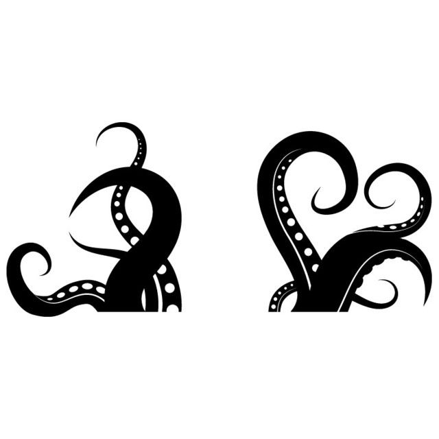 Octopus Tentacles 100x46 Black | Pinterest | Siluetas, Pulpos y Vinil