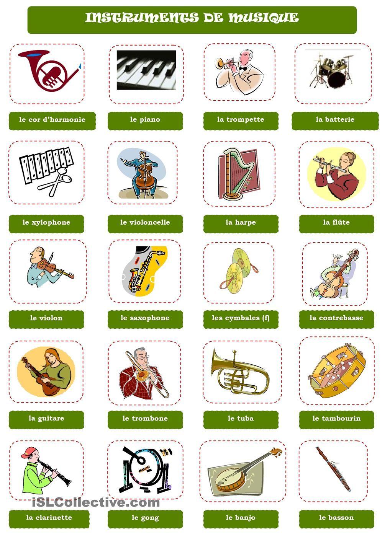 Bien-aimé INSTRUMENTS DE MUSIQUE | Activités | Pinterest | Instruments  DU63