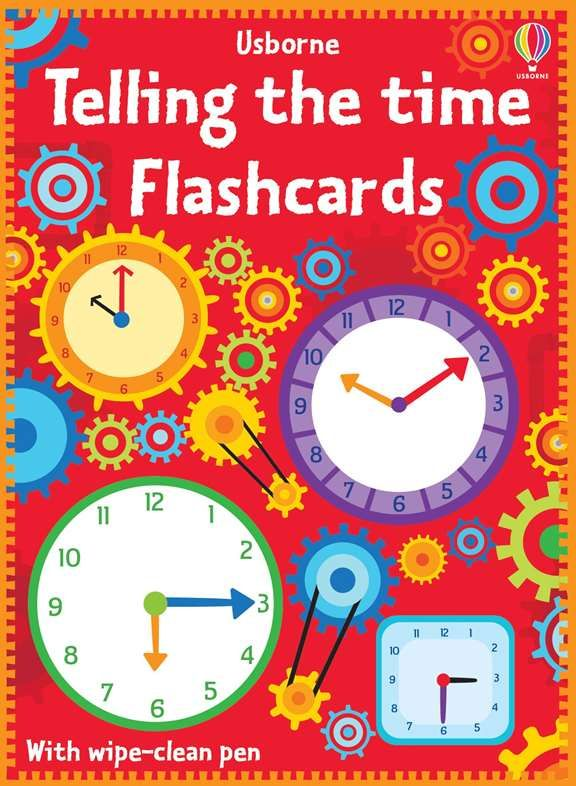 Telling the time flash cards   Flashcards, Usborne ...
