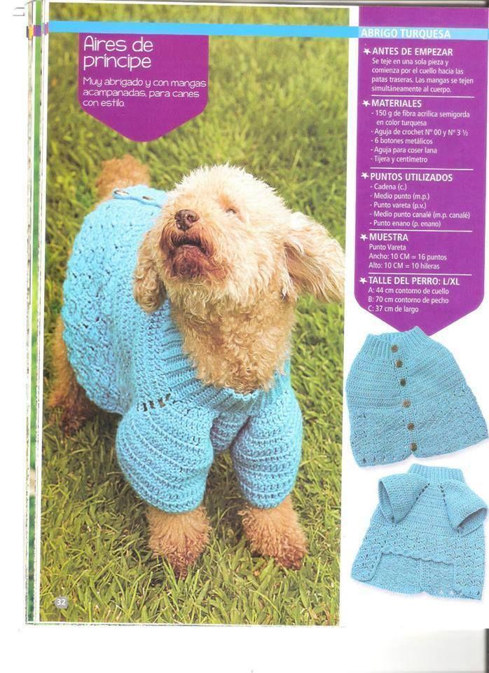 Perfecto Suéter Patrón De Ganchillo Fácil Perro Colección de ...