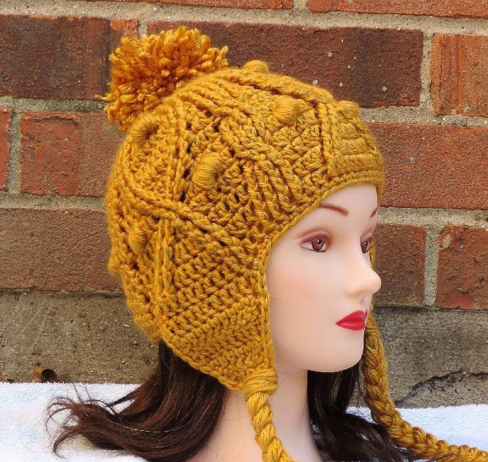 Katie Earflap Hat Crochet pattern by Justine Walley ...