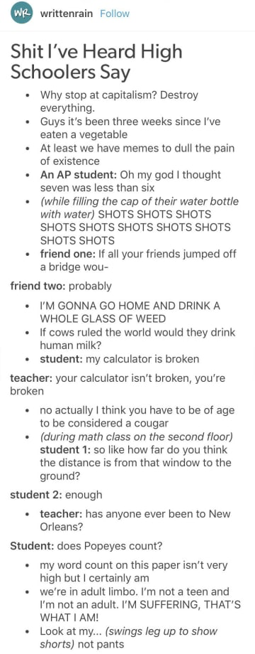 21 Hilarious Tumblr Posts To Read When Youre Bored In Class