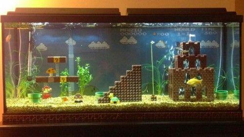 Mario Fish Tank Aquarium Decorations Lego Super Mario Aquarium