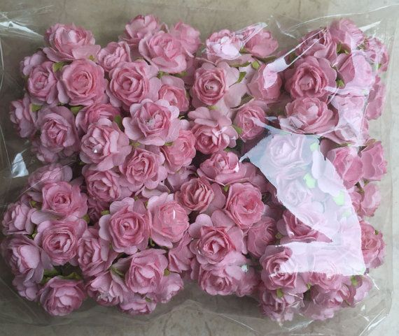100 light pink mulberry roses flower paper flowers size 2 cm 06 100 light pink mulberry roses flower paper flowers size 2 cm 06 inch wholesale bulk embellishment scrapbooking wholesale mightylinksfo