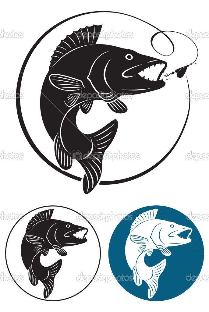 The Figure Shows The Predatory Fish Fishing Fishing Tips Fishing Gear Fishing Hacks Fishing Lures Bass Fishing Fish Silhouette Fish Drawings Walleye