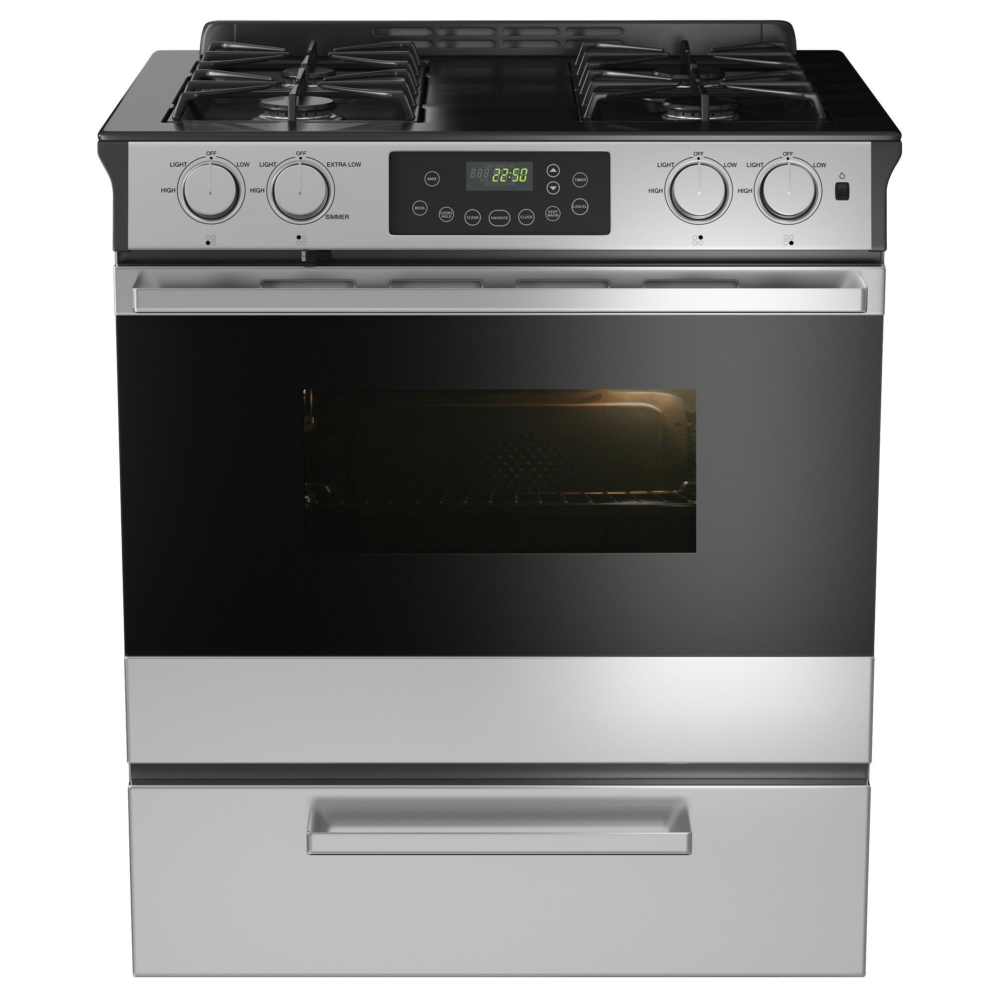 went with the framtid slide in range with gas cooktop from ikea absolutely love it stove top. Black Bedroom Furniture Sets. Home Design Ideas