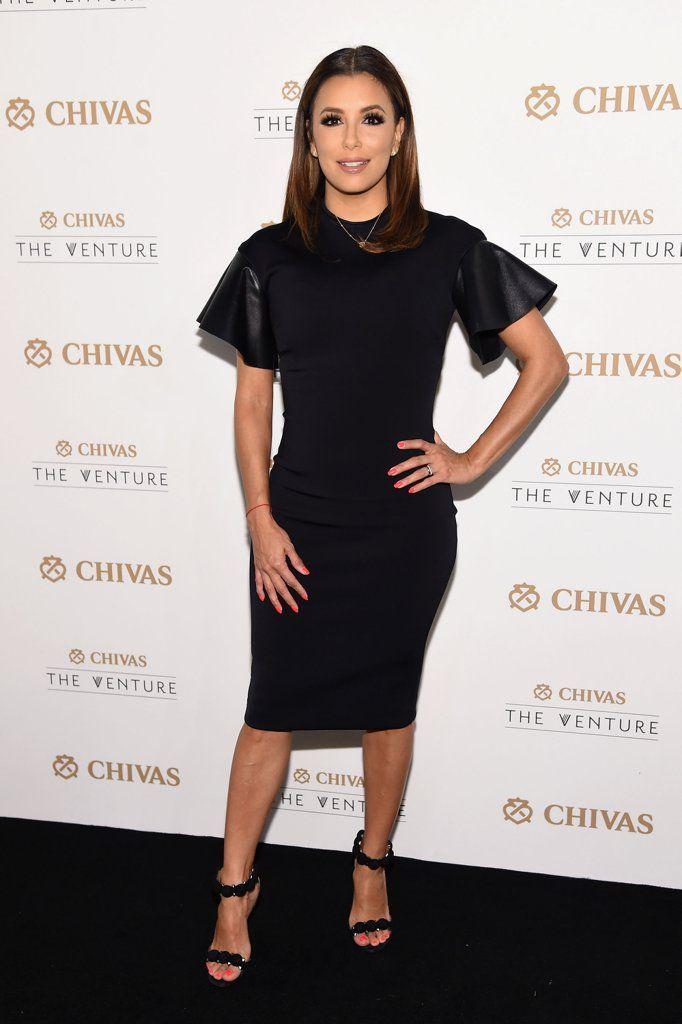 Eva Longorias Little Black Dress Looks Pretty Standard Until You