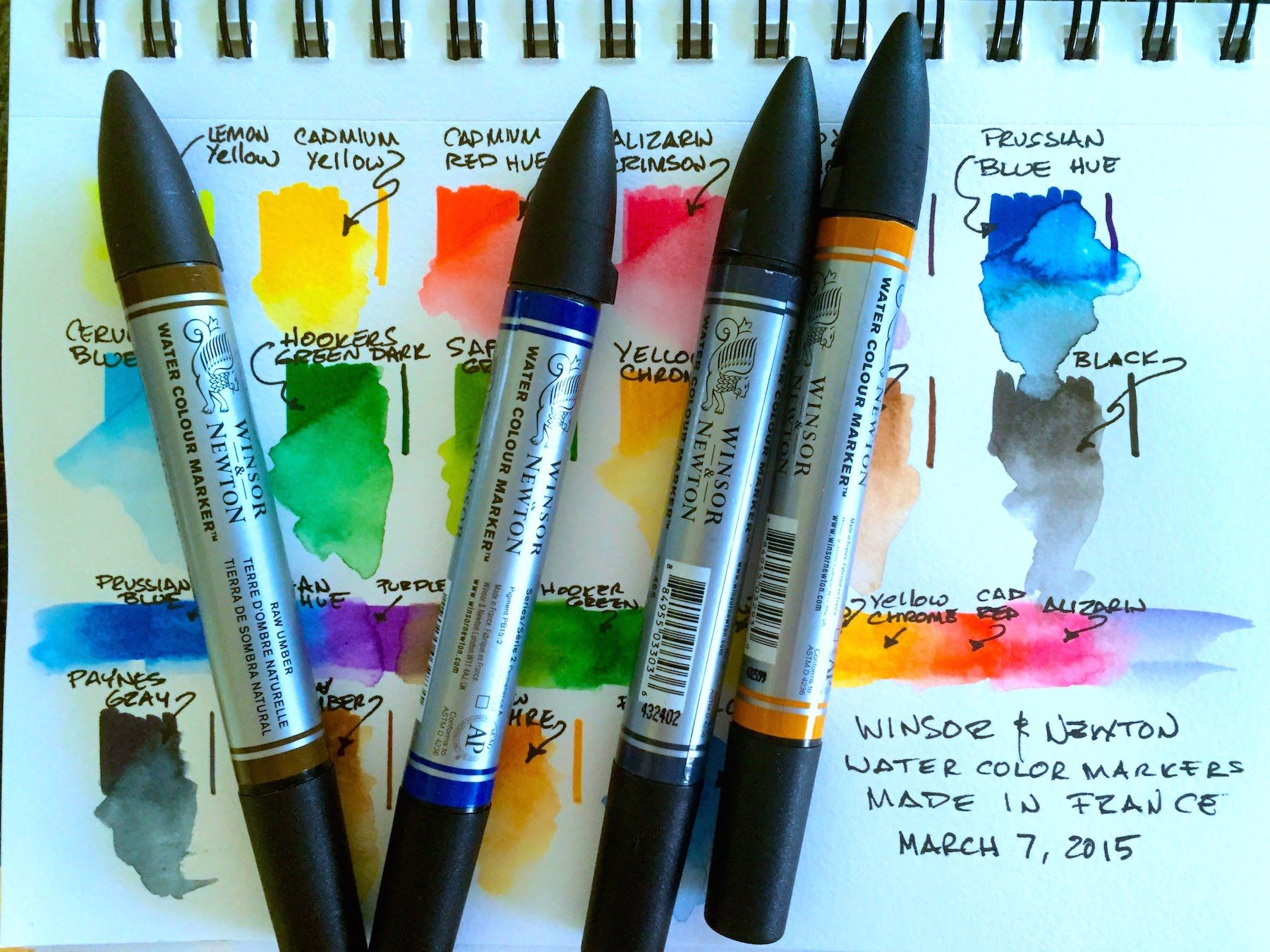 Winsor Newton Watercolor Markers Tutoriels Aquarelles