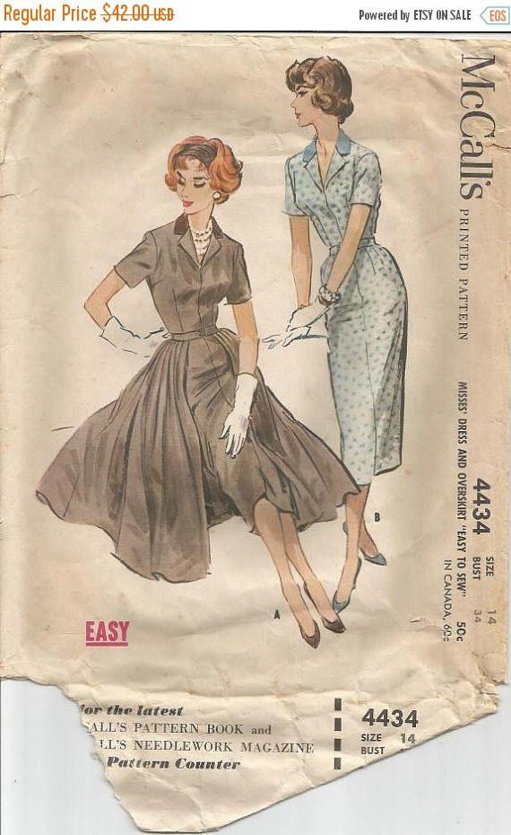 1950s Sheath Dress Day Or Dinner Cocktail Detachable Overskirt