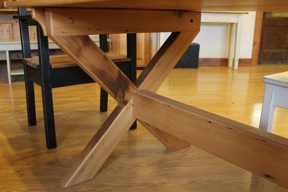Custom Log Dining Room Tables  Custom Made X Style Trestle Base Custom Custom Made Dining Room Tables Decorating Design