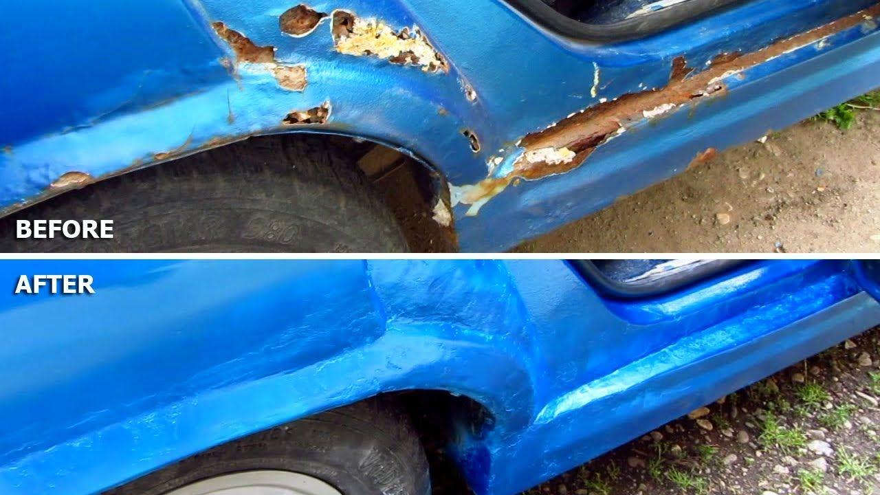 Car body repair diy rust holes filler sanding primer