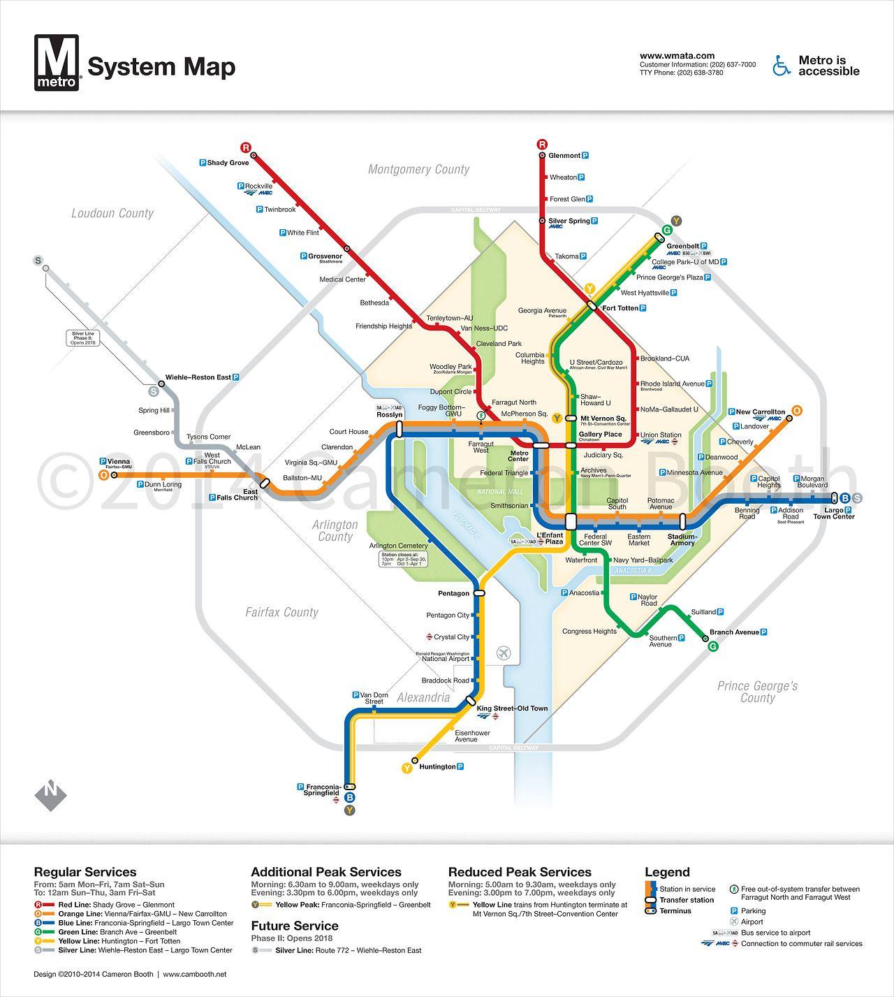 Washington Dc Subway Map Silver Line.Unofficial Map Washington Dc Metro Map With Silver Line 2014
