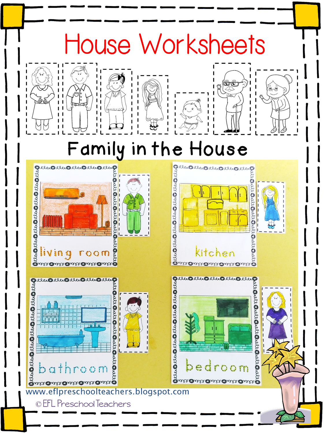 House Worksheets For The Preschool Ell
