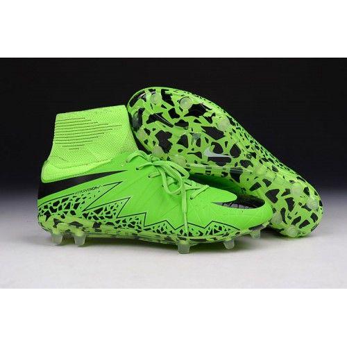newest 27991 2ae1c Bedst 2016 Nike Hypervenom Phantom II FG Fodboldstovler Gron Sort
