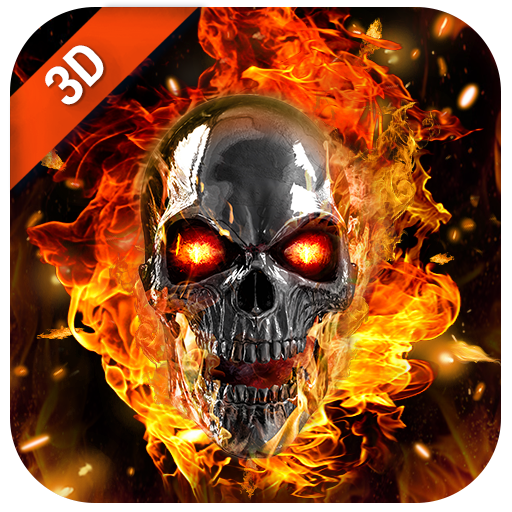 Download Flaming Skull Live Wallpaper for Free 2.2.0.2500