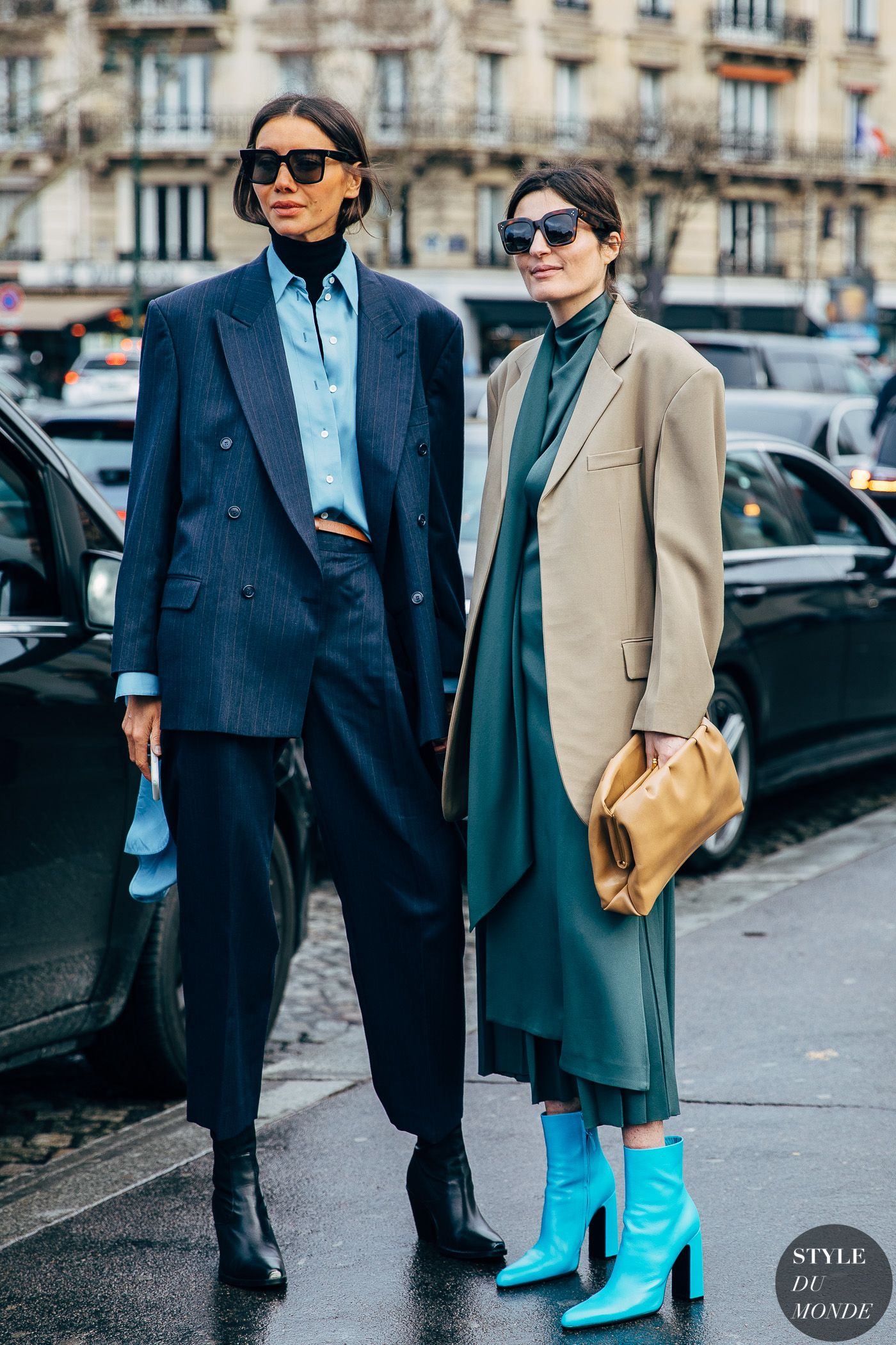 Paris FW 2019 Street Style: Julie Pelipas and Irina Linovich