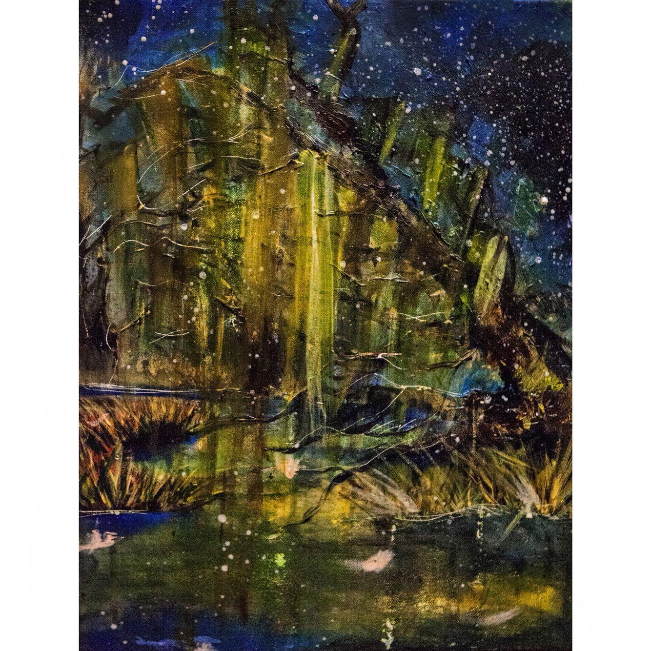 Violet Hour on the Bayou: new #acrylic #painting #abstract #impressionism #vscocam #vscogood nashvilleartscene #nashvilleart #nashvilletn #nashvillepainter #nashvillepainters #art #artist #artists #paint #painter #painters #etsyseller #etsyshop #etsystore #etsyundiscovered #etsy #etsyart #etsyartist #etsypainter | http://etsy.com/shop/CarolineHaagMarshall