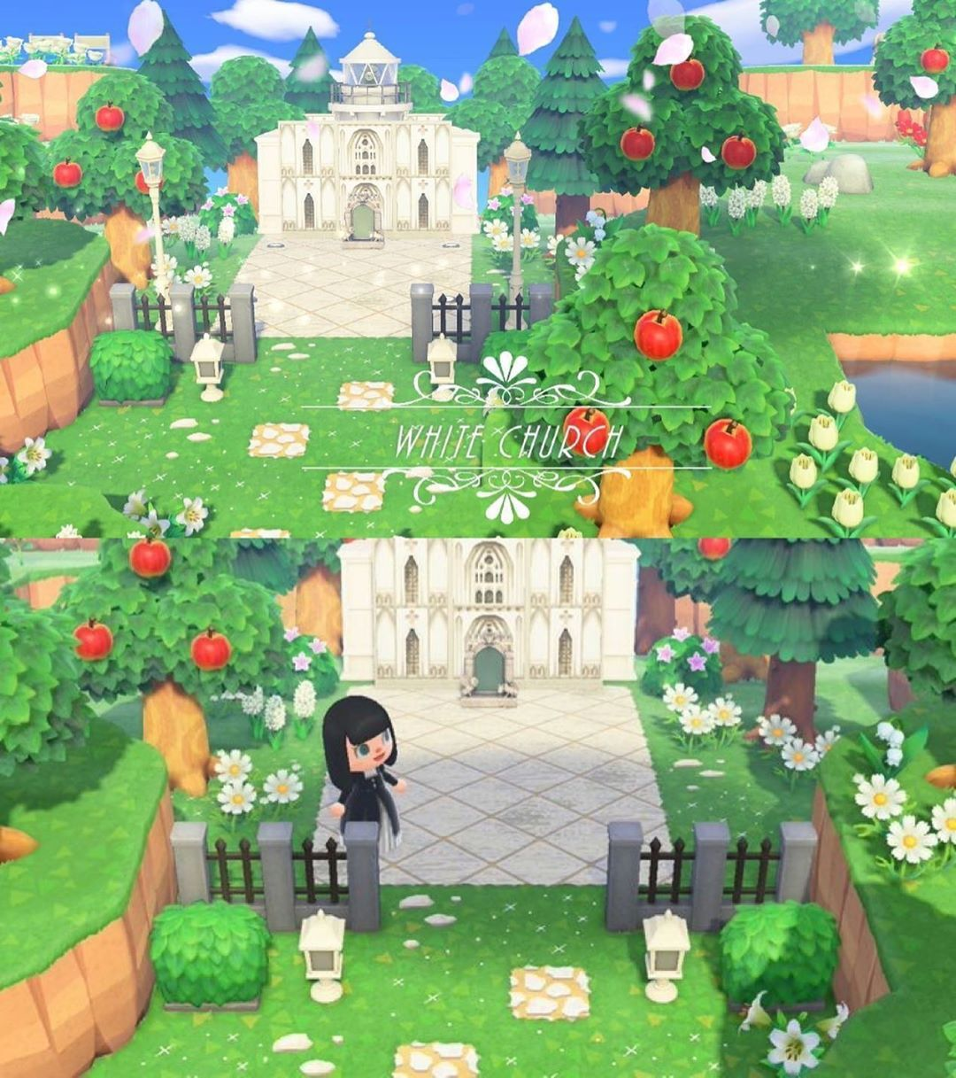 Animal Crossing Store On Instagram The White Church For A Wedding Event Id Ma 6665 9353 5318 In 2020 Animal Crossing New Animal Crossing Animal Crossing Qr