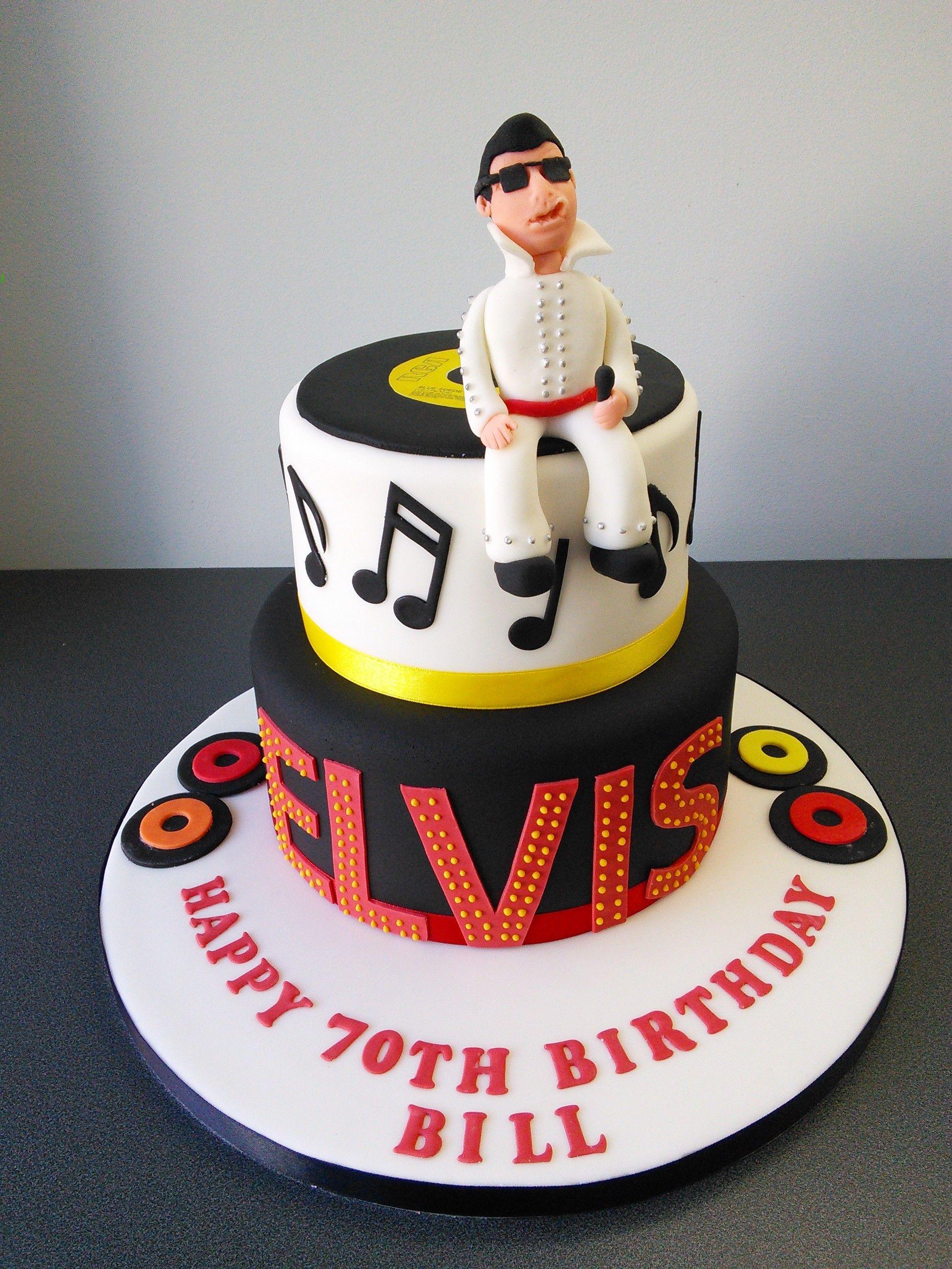 70th Birthday Elvis Cake Cakes For Men Pinterest Cake