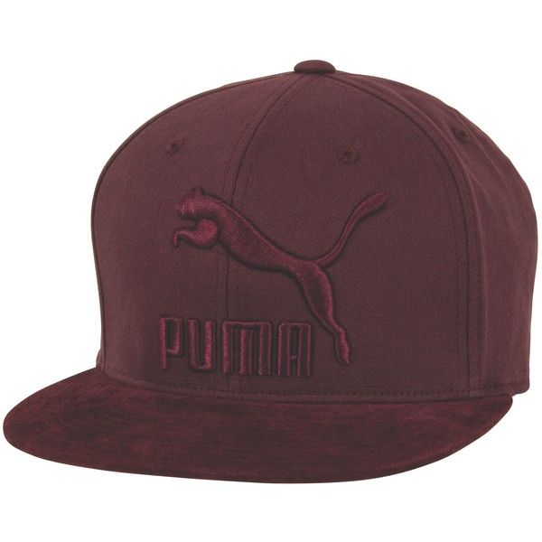 Puma Suede 110 Snapback Hat ($34) ❤ liked on Polyvore featuring  accessories, hats