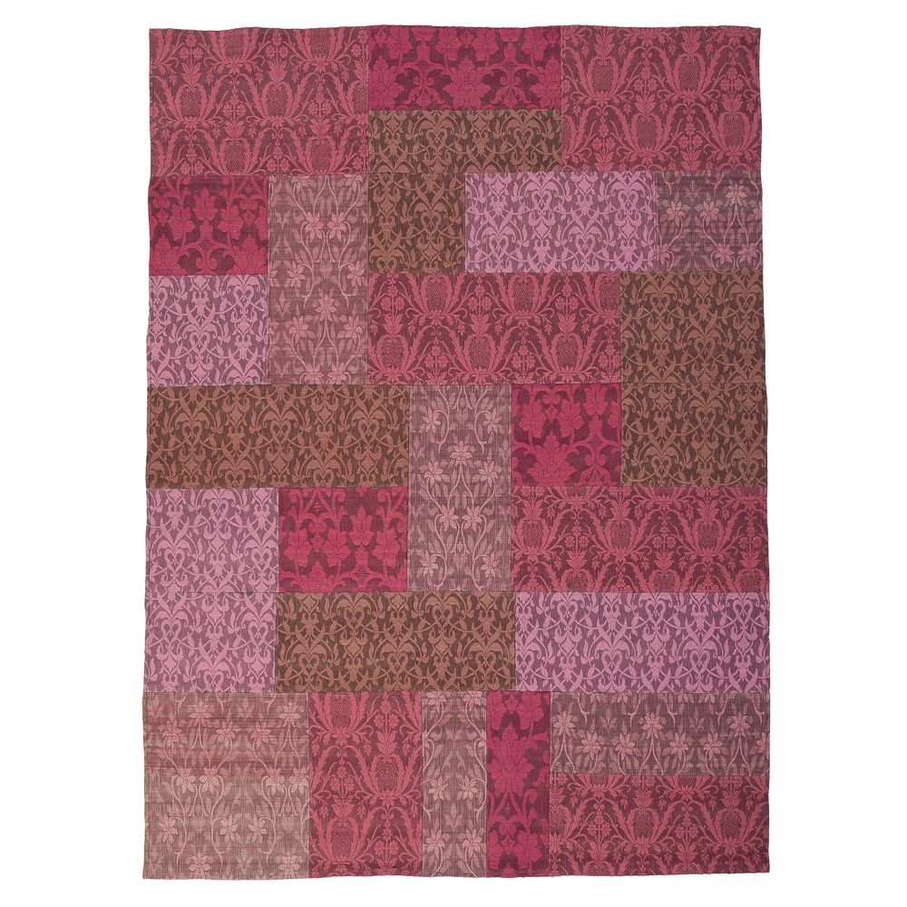 Damask Patchwork Wool Rug in Rose Pink  www.atkinandthyme.co.uk