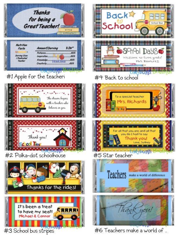 School Days Teacher Bus Driver Candy Bar By Ladybuggsboutique 11 50 Bus Driver Appreciation Bus Driver Cute Teacher Gifts