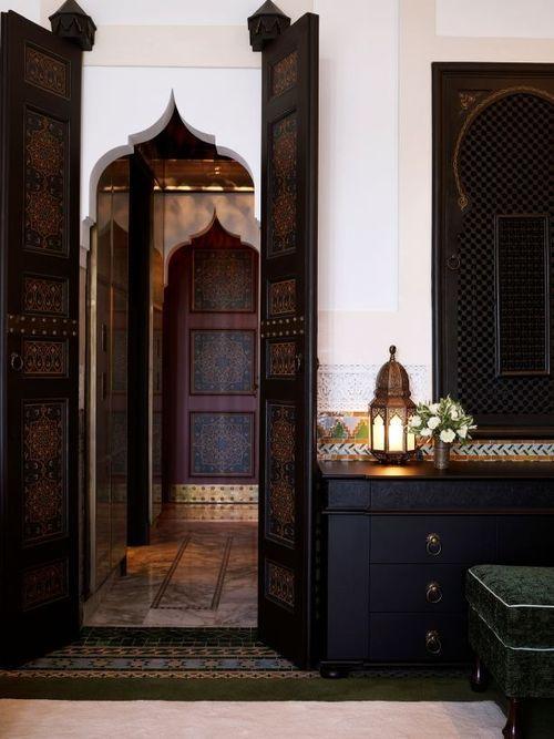 dark wood and black furniture | morocco inspiration | Moroccan ...