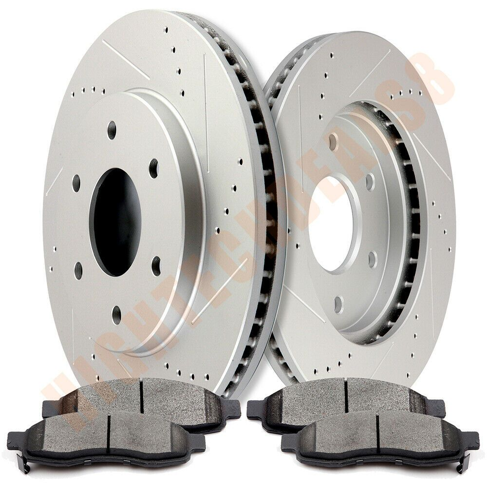 Fit 2005 Dodge Magnum Front Rear Sport Drill Slot Brake Rotors+Ceramic Brake Pad