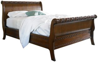 Stickley St Croix Sleigh Bed Cal King The Classic Home