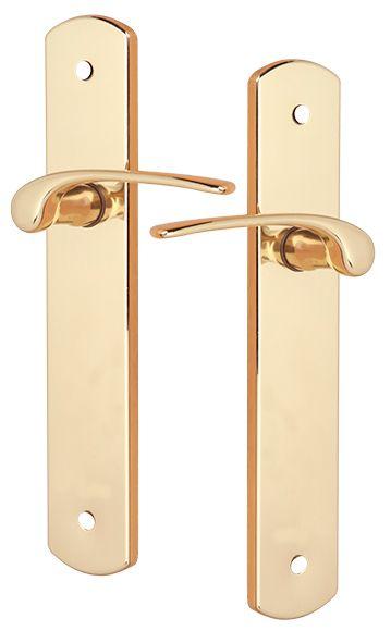 Manilla vitoria dorado brillo laton ref 14740432 leroy for Manillas puertas interiores