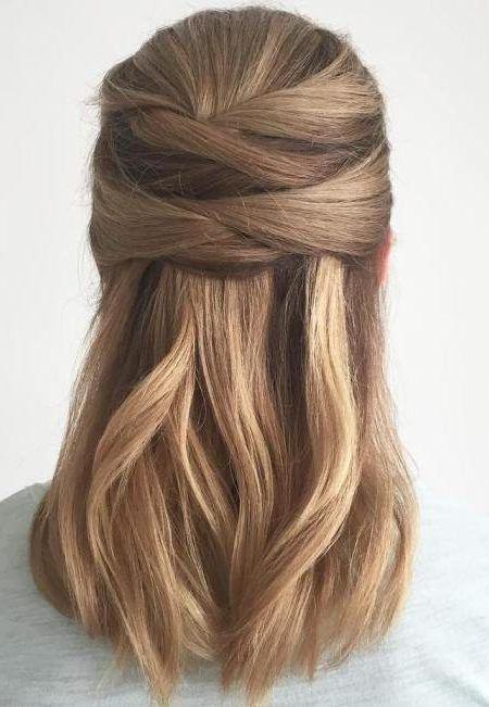 Tucked Straight Hair Glatte Haare Frisur Ideen Schone Frisuren Lange Haare
