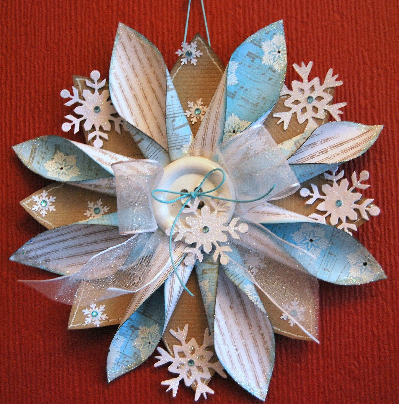 Kath's Blog......diary of the everyday life of a crafter: Snowflake Hanger Tutorial