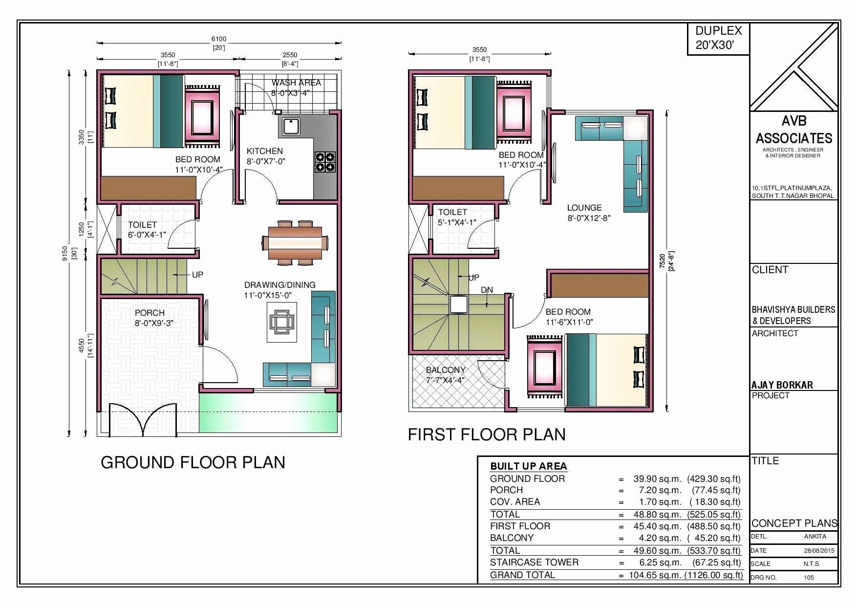 20 X 20 House Plans Fresh 44 20x50 House Plan For House Plan In 2020 20x30 House Plans House Construction Plan Duplex House Plans