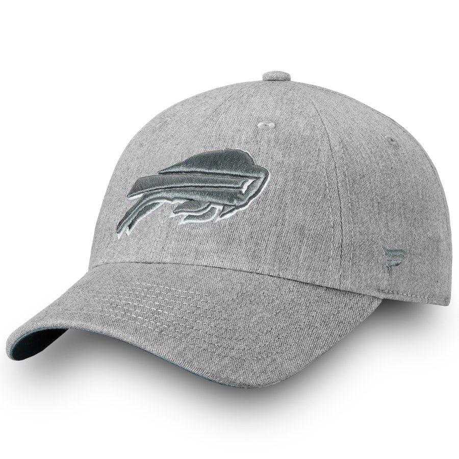 3af8245d6a056 Men s Buffalo Bills NFL Pro Line by Fanatics Branded Heathered Gray Lux  Slate Fundamental Adjustable Hat