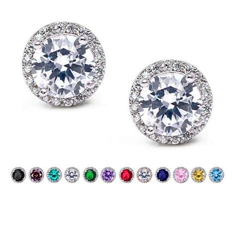 Stunning Stud Earrings Made With High Quality Aaa Grade Cubic Zirconia For Diamond Like Brilliance Which Hypoallergenic Earrings Women S Earrings Stud Earrings