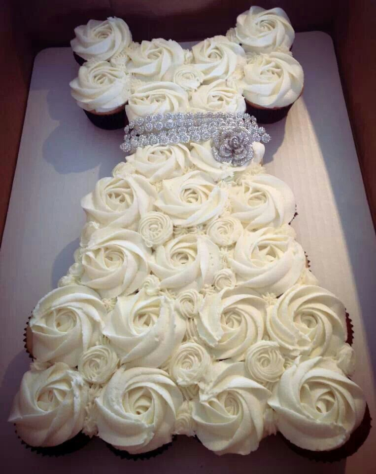Cupcake Decorating Ideas For Bridal Shower : Bridal shower cupcake idea Craft Ideas Pinterest ...