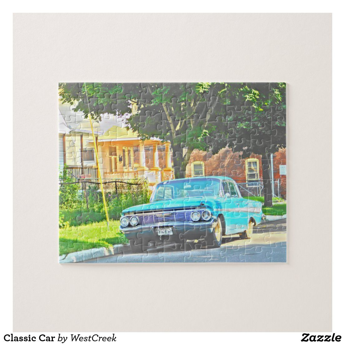 Classic Car Jigsaw Puzzle | Zazzle.com