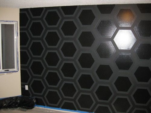 geometric triangle wall paint design idea with tape - Paint Designs On Walls With Tape Ideas