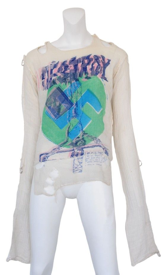 "Vintage Vivienne Westwood & Malcolm McLaren Seditionaries ""Destroy"" Shirt @ Resurrection Vintage"