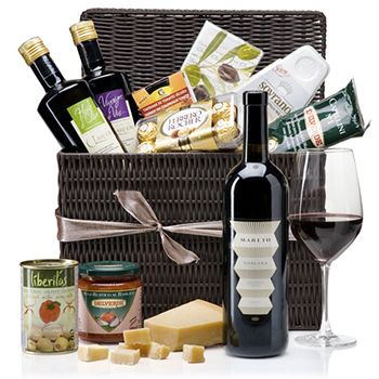 Italian Picnic Hamper Deluxe Wine Gift Basket To Hong Kong