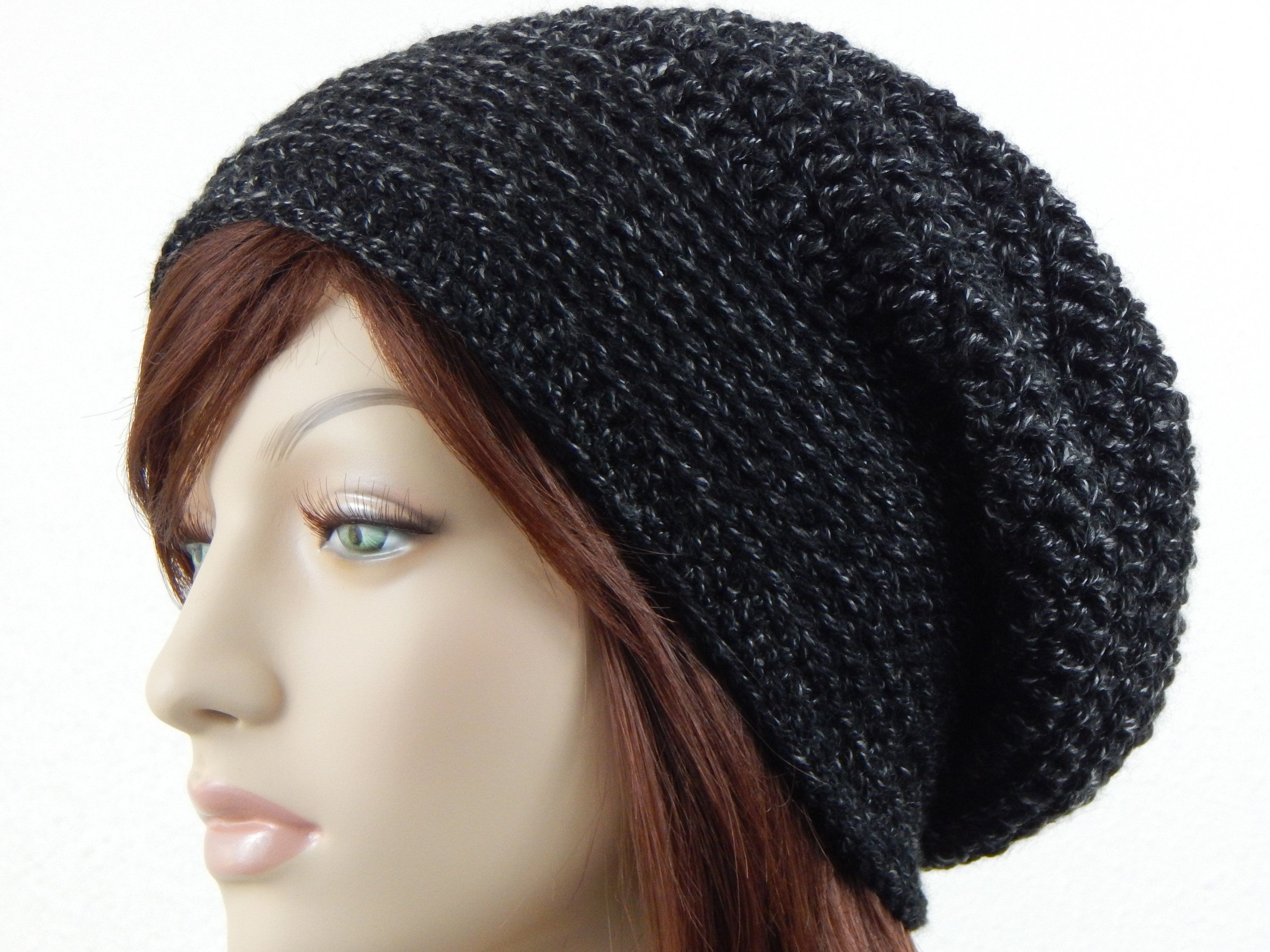 341412ef70a Black With Grey Slouch Hat