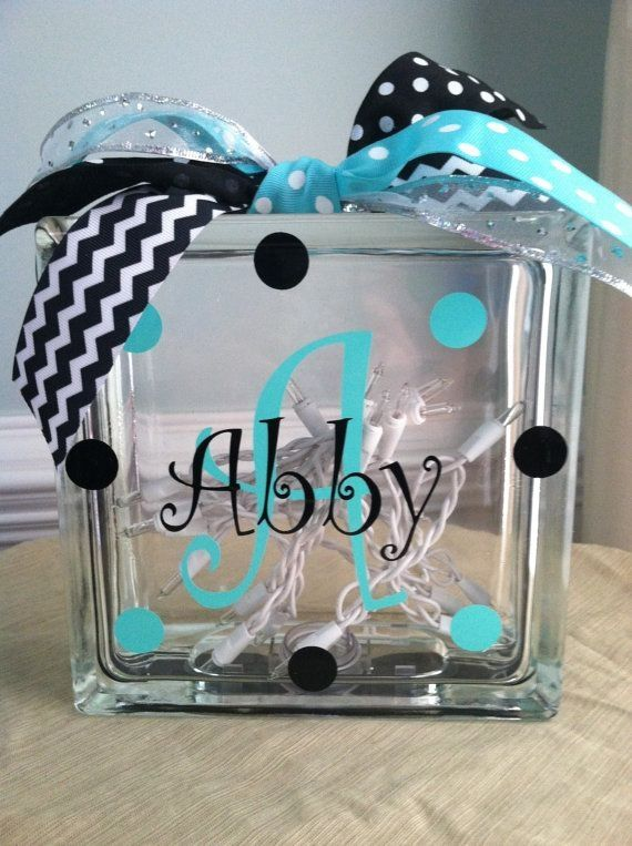 craft ideas for glass blocks personalized monogram glass block light by carlani glass 6176