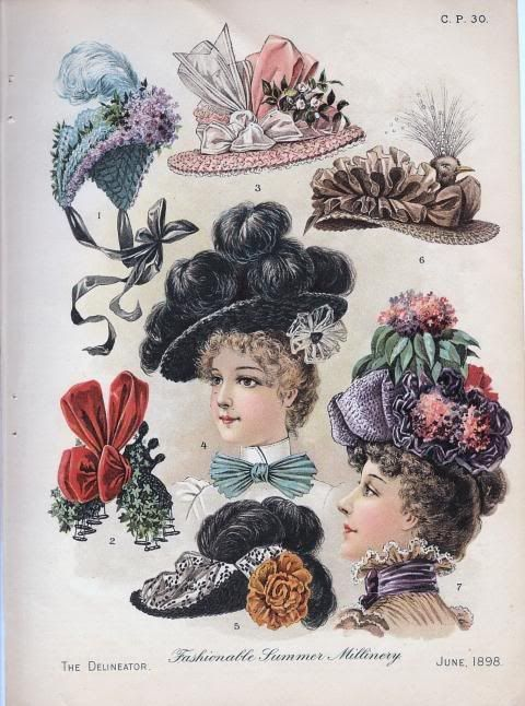 The Paper Trail s Blog  Women s Hat Fashions Late 1800 s  1d2802558fe
