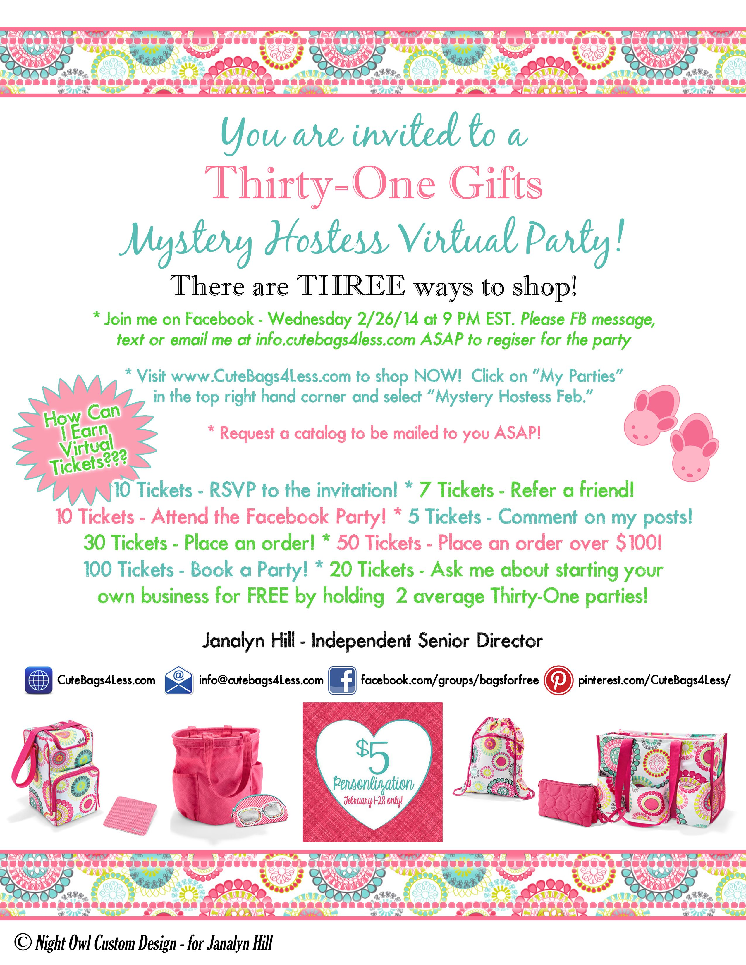 The Party is on FB by invite only. | Thirty-One ideas | Pinterest ...