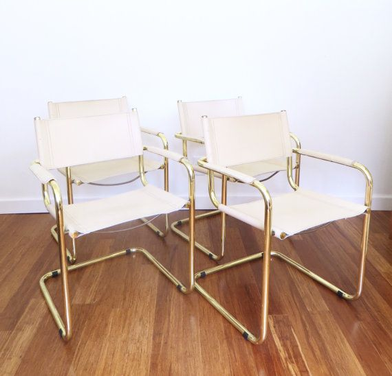 ingenious idea mid century side chair. Vintage Brass and Leather Mart Stam Style Italian Cantilevered Chairs Set  of Made in Italy Tubular Mid Century Dining Ingenious Idea Side Chair Home Design Plan