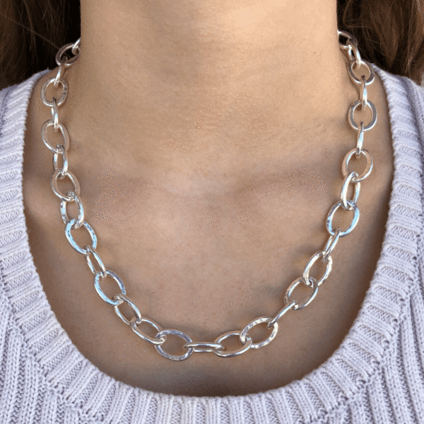 Silver Chain Link Necklace Chain Link Necklace Chain Link Necklace Silver Silver Jewelry Gifts