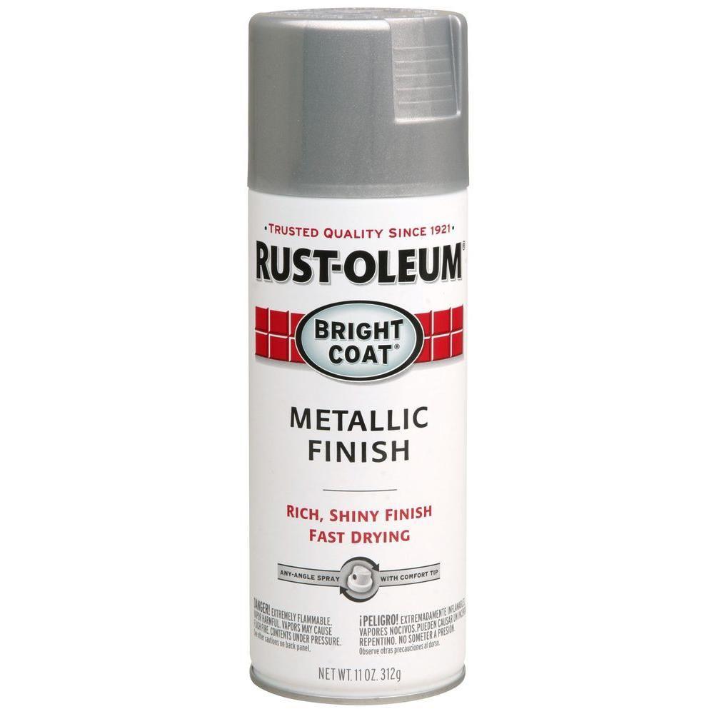 Rust Oleum Stops Rust 11 Oz Bright Coat Metallic Aluminum Spray Paint 6 Pack 7715830 The Home Depot Chrome Spray Paint Gloss Spray Paint Metallic Gold Spray Paint