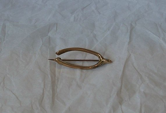 Charming Antique Victorian 9k Gold Wishbone by MargsMostlyVintage, $39.00